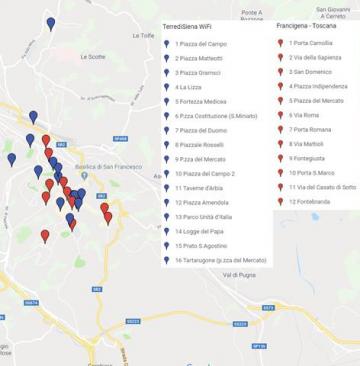 Mappa reti WiFi